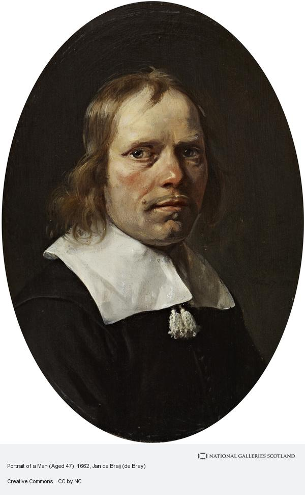 Jan de Braij (de Bray), Portrait of a Man (1662)
