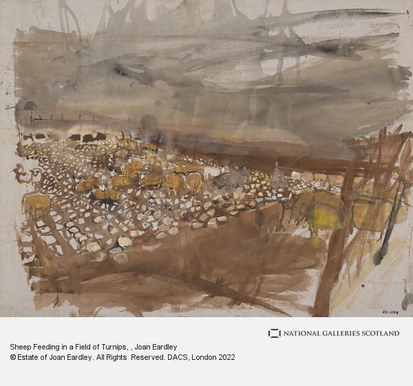 Joan Eardley, Sheep Feeding in a Field of Turnips