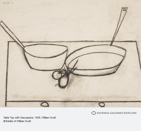 William Scott, Table Top with Saucepans