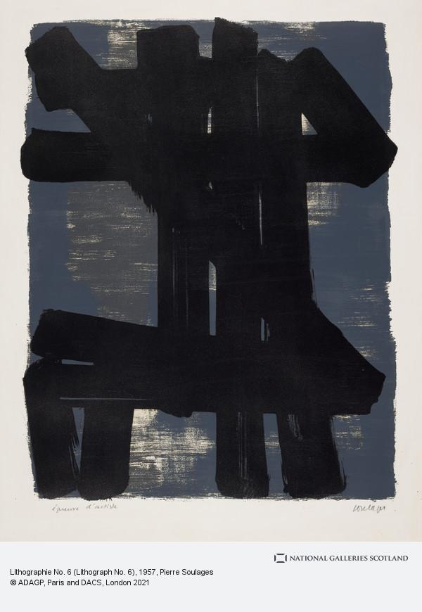 Pierre Soulages, Lithographie No. 6 (Lithograph No. 6)