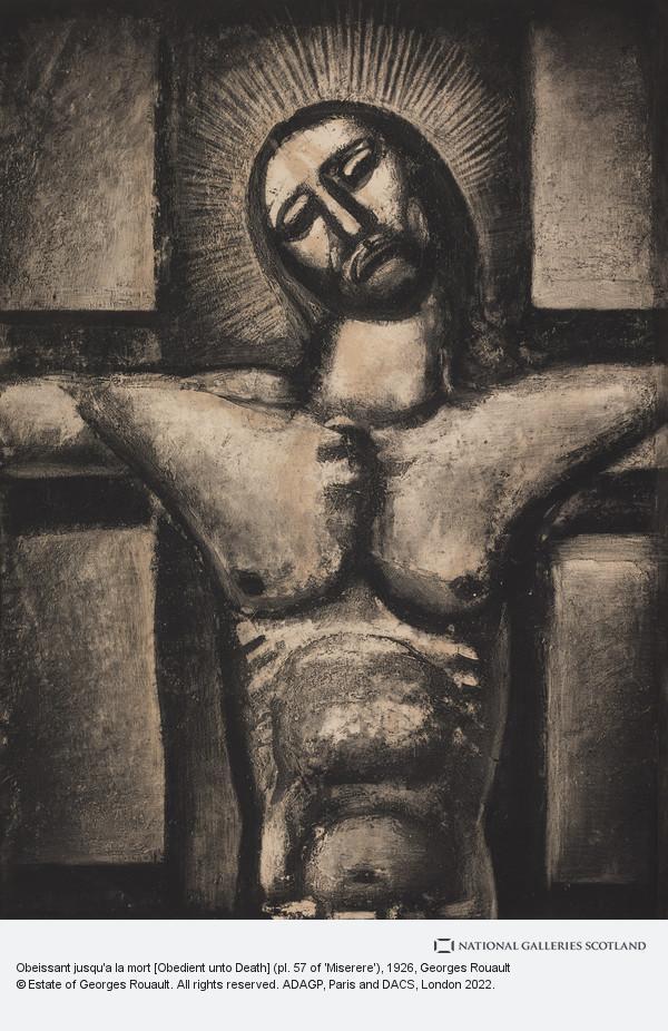 Georges Rouault, Obeissant jusqu'a la mort [Obedient unto Death] (pl. 57 of 'Miserere')