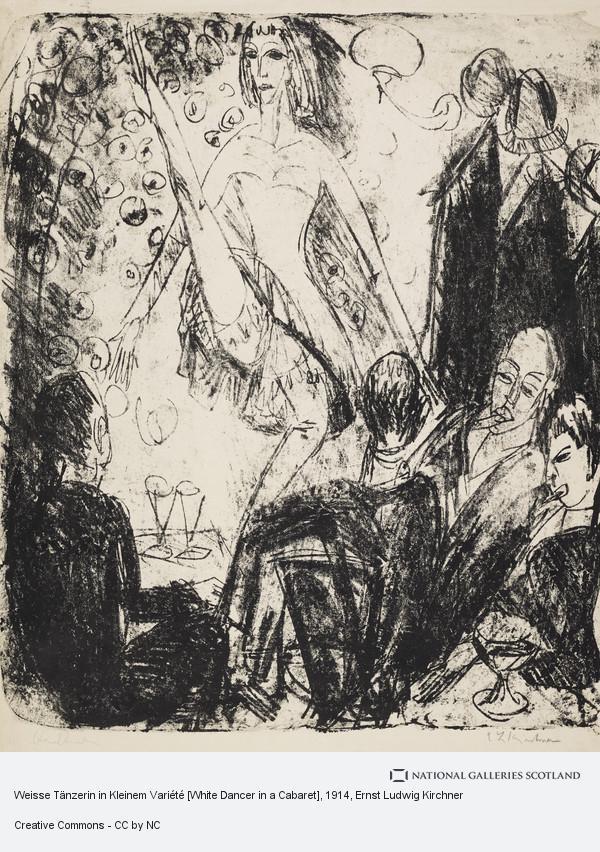 Ernst Ludwig Kirchner, Weisse Tänzerin in Kleinem Variété [White Dancer in a Cabaret]