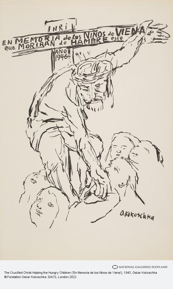 Oskar Kokoschka, The Crucified Christ Helping the Hungry Children ('En Memoria de los Ninos de Viena')