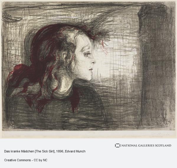 Edvard Munch, Das kranke Mädchen [The Sick Girl]