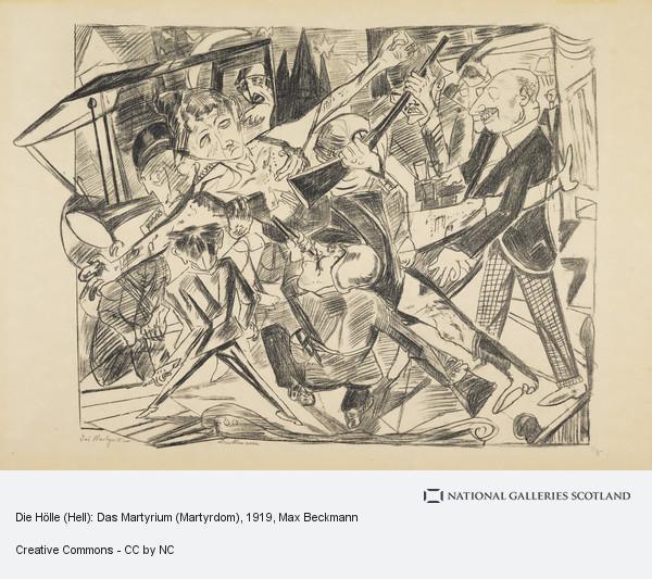 Max Beckmann, Die Hölle (Hell): Das Martyrium (Martyrdom)