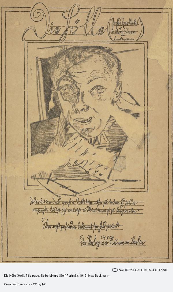 Max Beckmann, Die Hölle (Hell). Title page: Selbstbildnis (Self-Portrait)