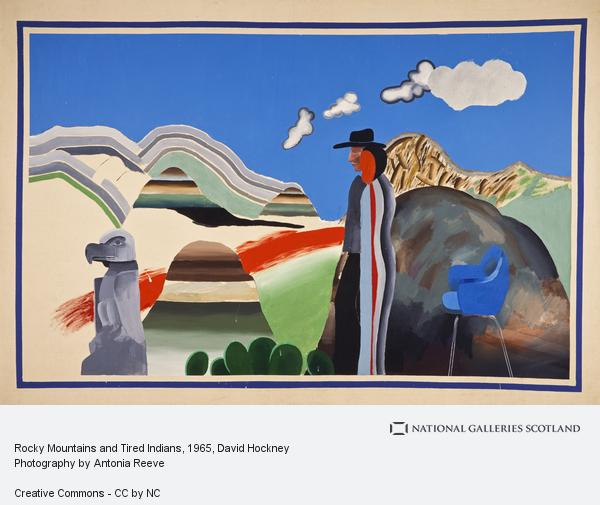 David Hockney, Rocky Mountains and Tired Indians