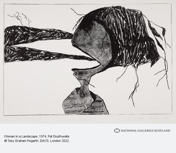 Pat Douthwaite, Woman in a Landscape