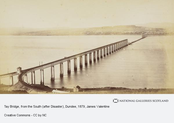James Valentine, Tay Bridge, from the South (after Disaster), Dundee