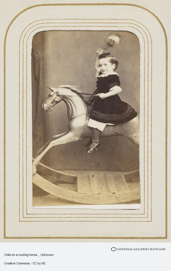 Unknown, Child on a rocking horse
