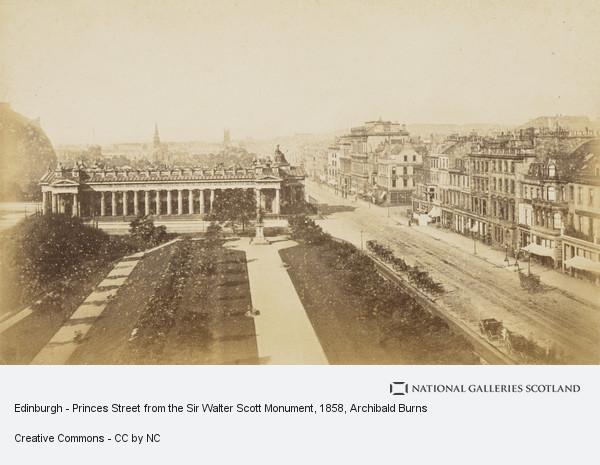 Archibald Burns, Edinburgh - Princes Street from the Sir Walter Scott Monument