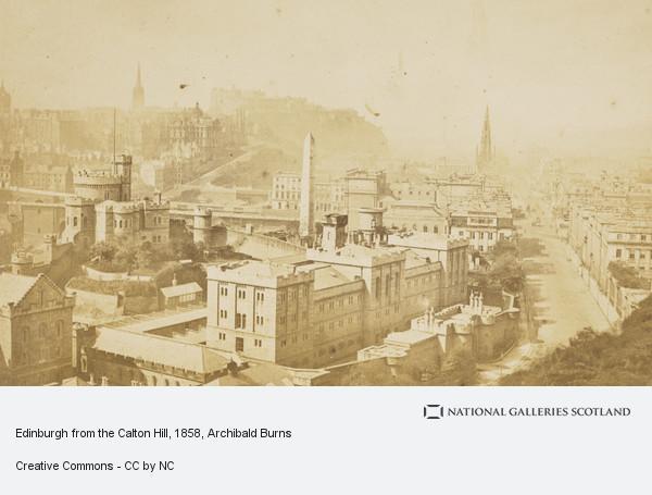 Archibald Burns, Edinburgh from the Calton Hill