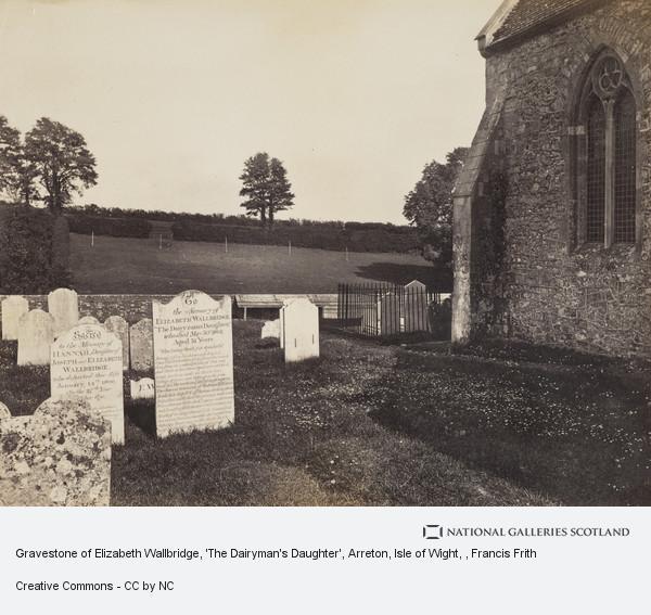 Francis Frith, Gravestone of Elizabeth Wallbridge, 'The Dairyman's Daughter', Arreton, Isle of Wight