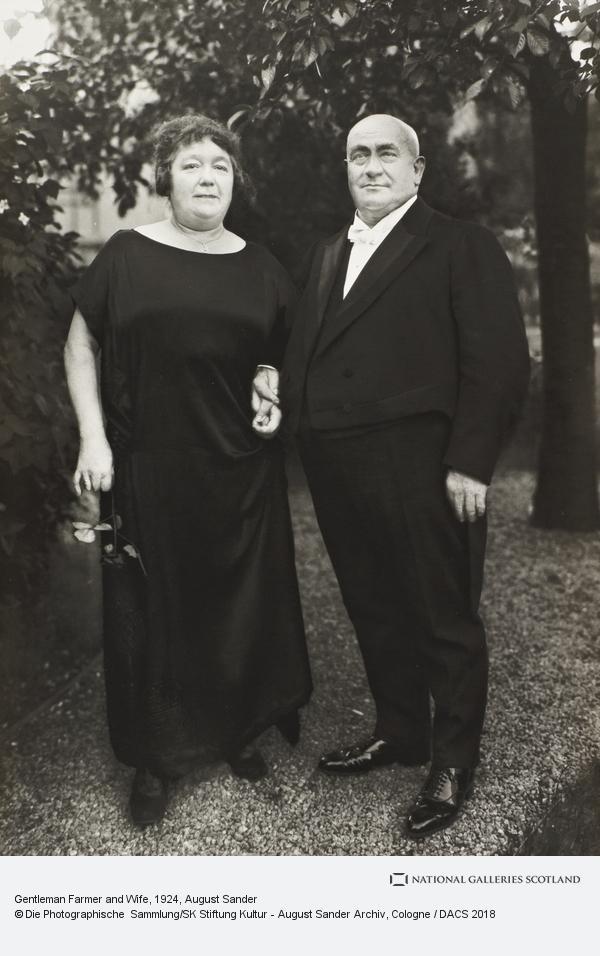 August Sander, Gentleman Farmer and Wife, 1924 (1924)