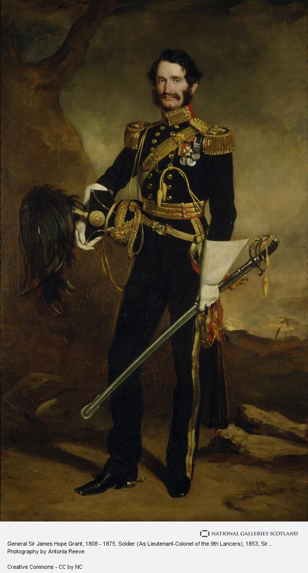 Sir Francis Grant, General Sir James Hope Grant, 1808 - 1875. Soldier (As Lieutenant-Colonel of the 9th Lancers) (1853)