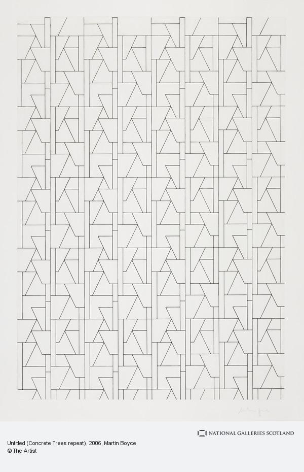 Martin Boyce, Untitled (Concrete Trees repeat)