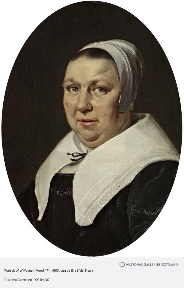 Jan de Braij (de Bray), Portrait of a Woman (Dated 1663)
