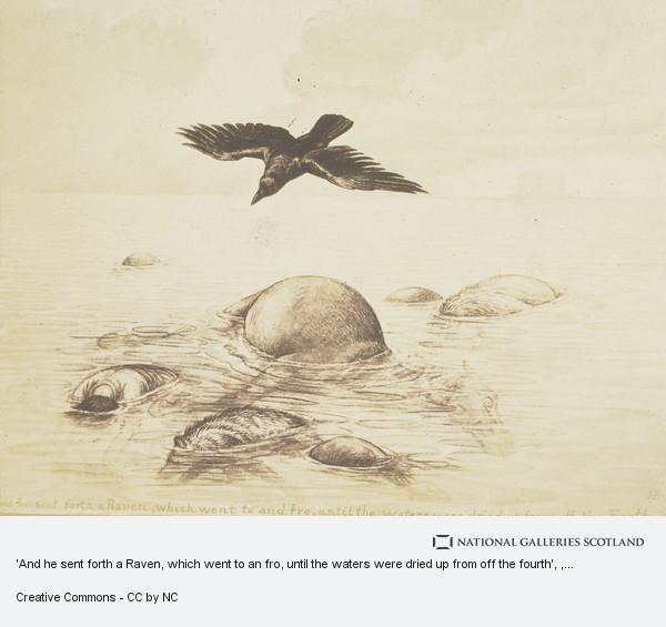 Jemima Blackburn (née Wedderburn), 'And he sent forth a Raven, which went to an fro, until the waters were dried up from off the fourth'