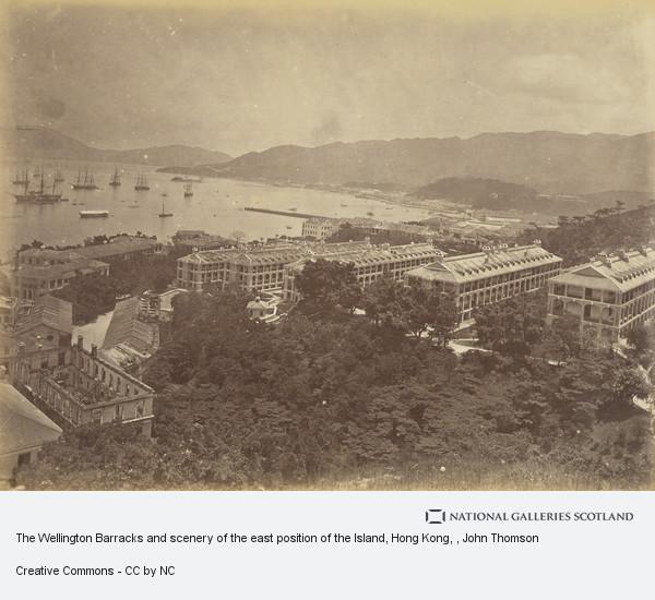 John Thomson, The Wellington Barracks and scenery of the east position of the Island, Hong Kong