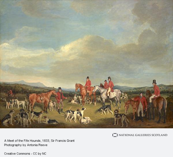 Sir Francis Grant, A Meet of the Fife Hounds (1833)