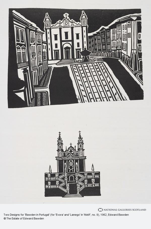 Edward Bawden, Two Designs for 'Bawden in Portugal' (for 'Evora' and 'Lamego' in 'Motif', no. 9)