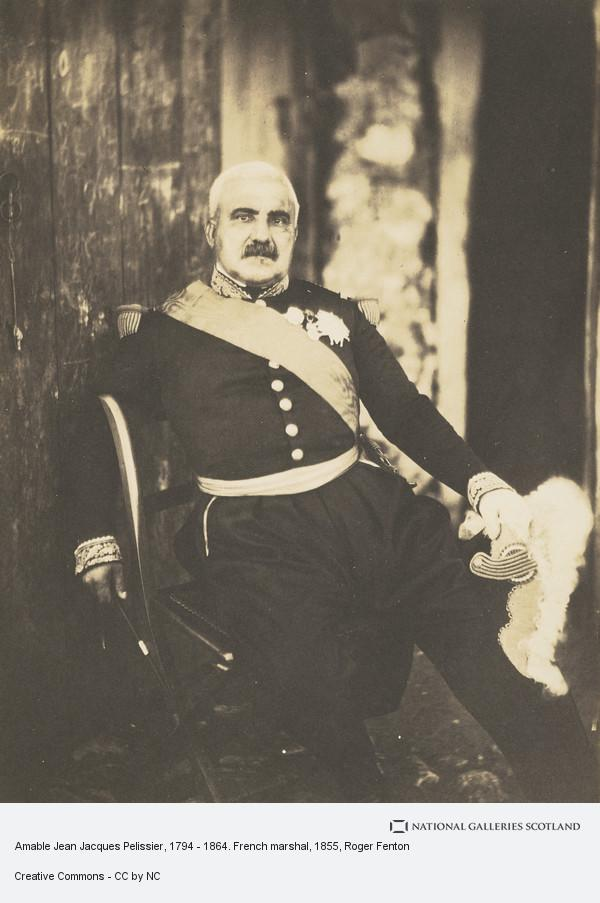Roger Fenton, Amable Jean Jacques Pelissier, 1794 - 1864. French marshal