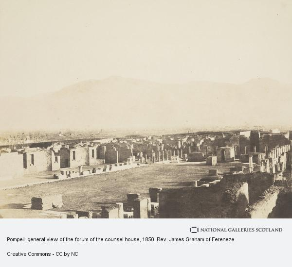 Rev. James Graham of Fereneze, Pompeii: general view of the forum of the counsel house