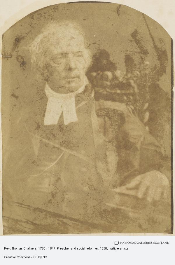 David Octavius Hill, Album of photographs belonging to the Crum family, possibly assembled by Walter Crum. Rev. Thomas Chalmers, 1780 - 1847. Preacher and social...
