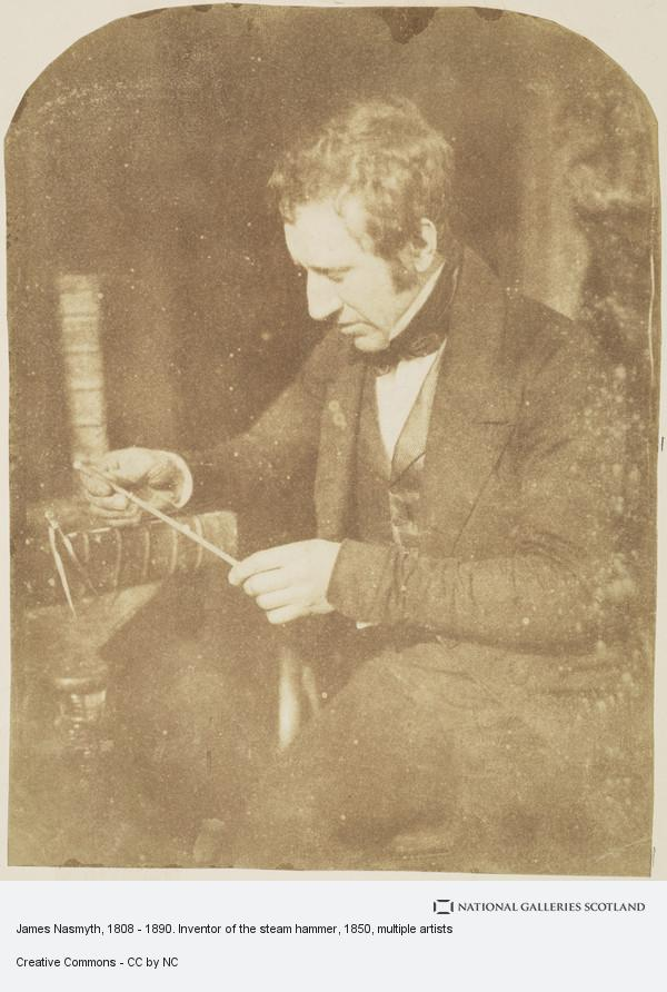 David Octavius Hill, Album of photographs belonging to the Crum Family, possibly assembled by Walter Crum. James Nasmyth, 1808 - 1890. Inventor of the steam hammer