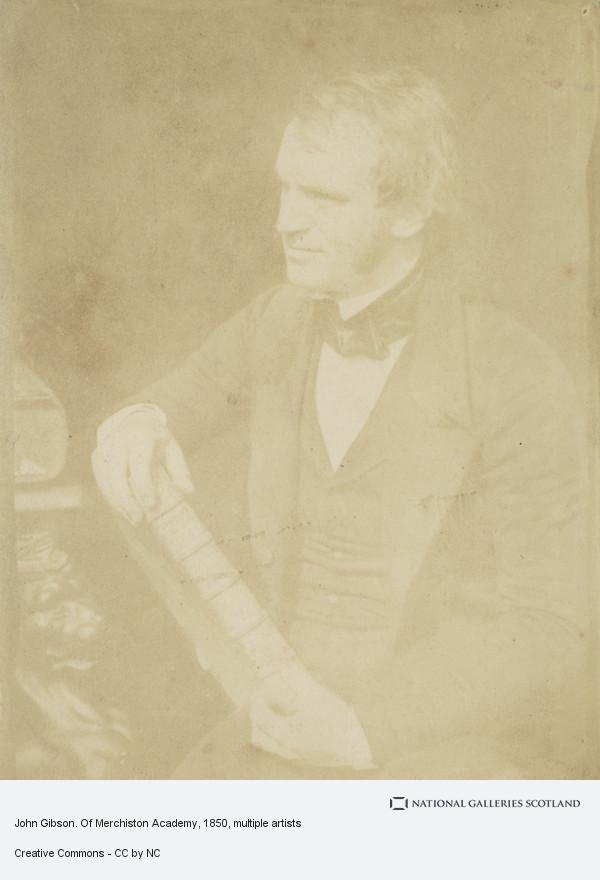 David Octavius Hill, Album of photographs belonging to the Crum Family, possibly assembled by Walter Crum. John Gibson. Of Merchiston Academy