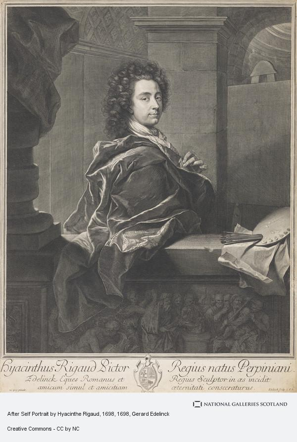 Gerard Edelinck, After Self Portrait by Hyacinthe Rigaud, 1698