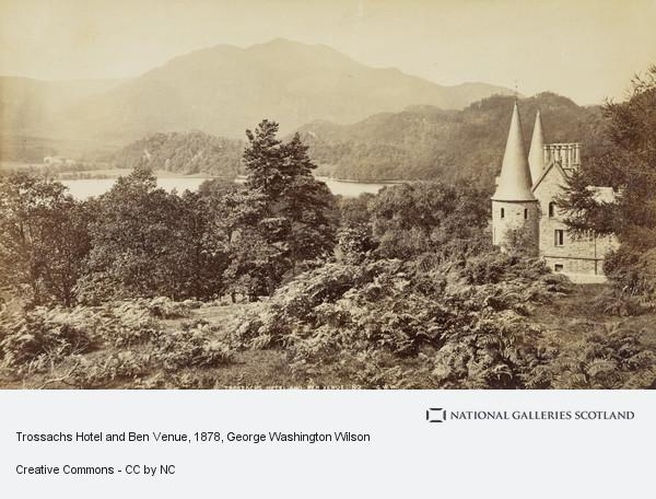 George Washington Wilson, Album of photographs belonging to the Crum family, possibly assembled by Walter Crum. Trossachs Hotel and Ben Venue