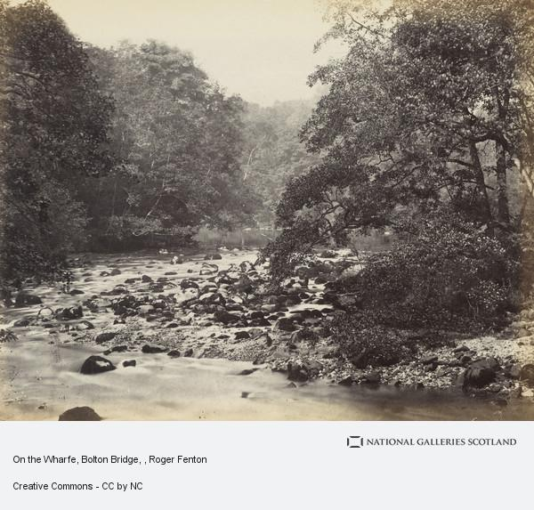 Roger Fenton, On the Wharfe, Bolton Bridge