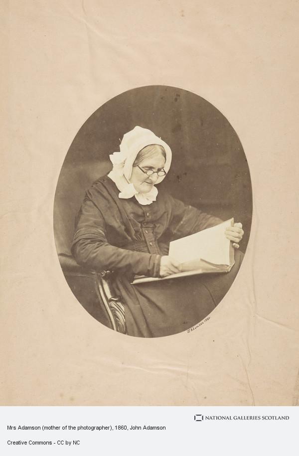 John Adamson, Mrs Adamson (mother of the photographer)