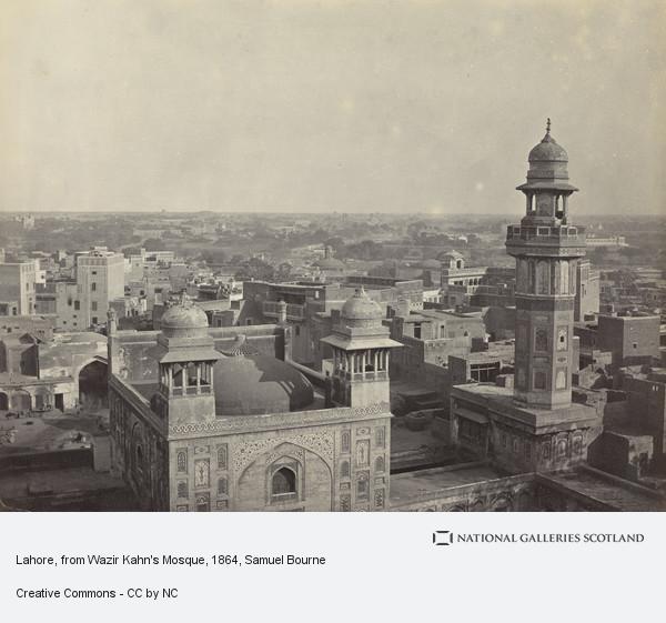 Samuel Bourne, Lahore, from ? Muzeer Kahn's Mosque