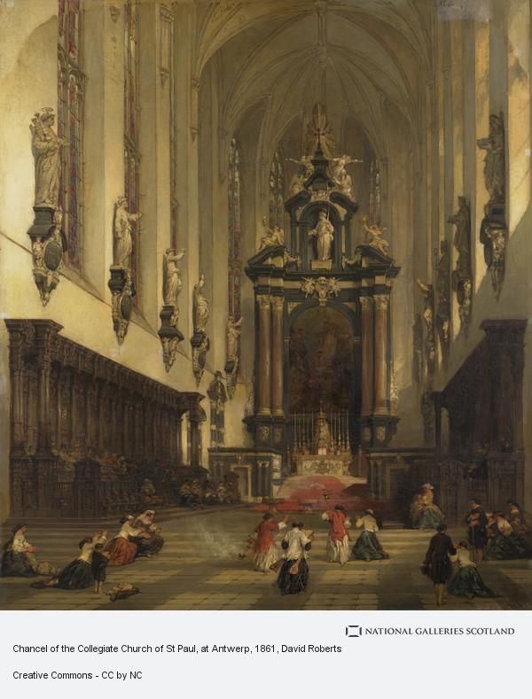 David Roberts, Chancel of the Collegiate Church of St Paul, at Antwerp