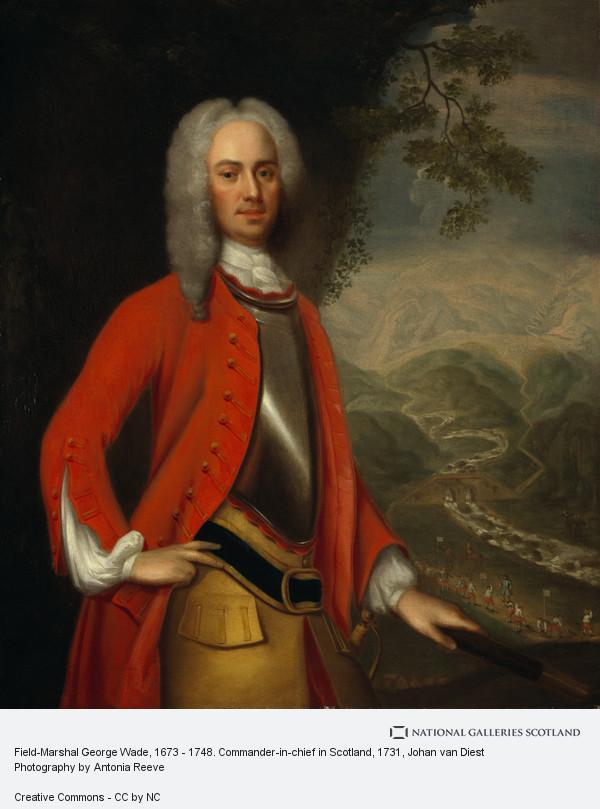 Johan van Diest, Field-Marshal George Wade, 1673 - 1748. Commander-in-chief in Scotland