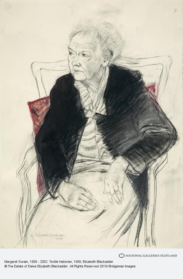 Elizabeth Blackadder, Margaret Swain, 1909 - 2002. Textile historian