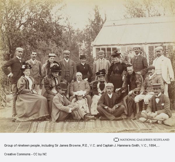 Fred Bremner, Group of nineteen people, including Sir James Browne, R.E., V.C. and Captain J. Hammers-Smith, V.C.