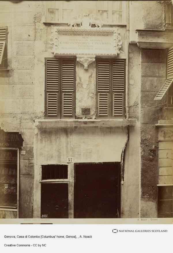 A. Noack, Genova, Casa di Colombo [Columbus' home, Genoa]