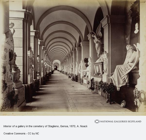 A. Noack, Interior of a gallery in the cemetery of Staglieno, Genoa