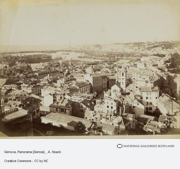 A. Noack, Genova, Panorama [Genoa]