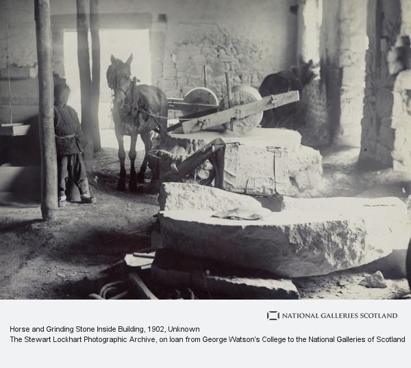Unknown, Horse and Grinding Stone Inside Building