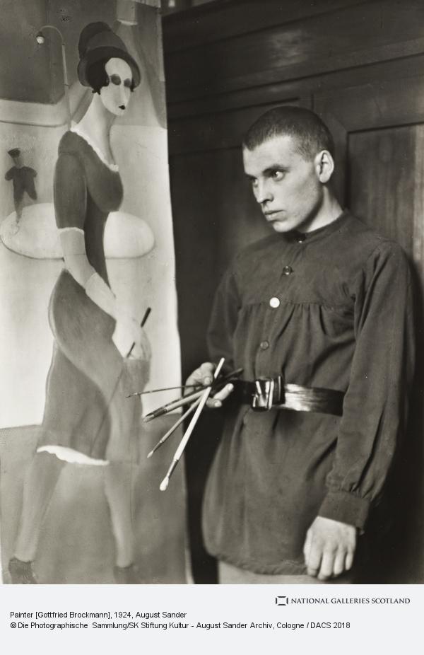 August Sander, Painter [Gottfried Brockmann], 1924 (1924)