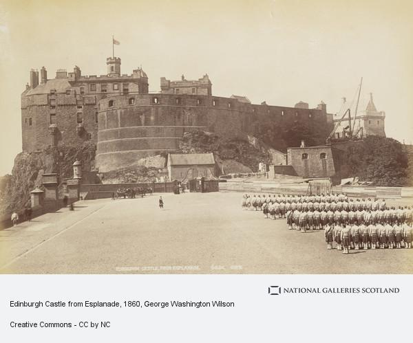 George Washington Wilson, Edinburgh Castle from Esplanade