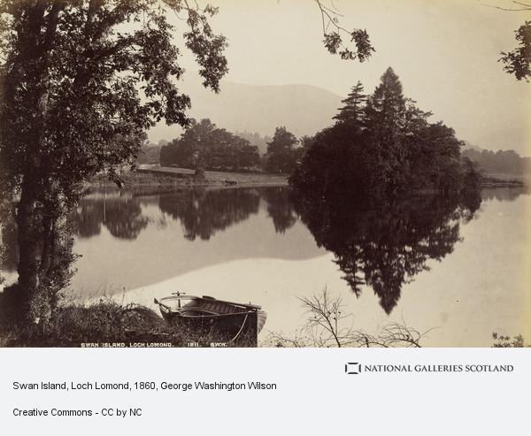 George Washington Wilson, Swan Island, Loch Lomond
