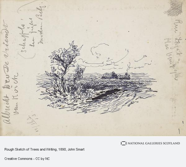 John Smart, Rough Sketch of Trees and Writing