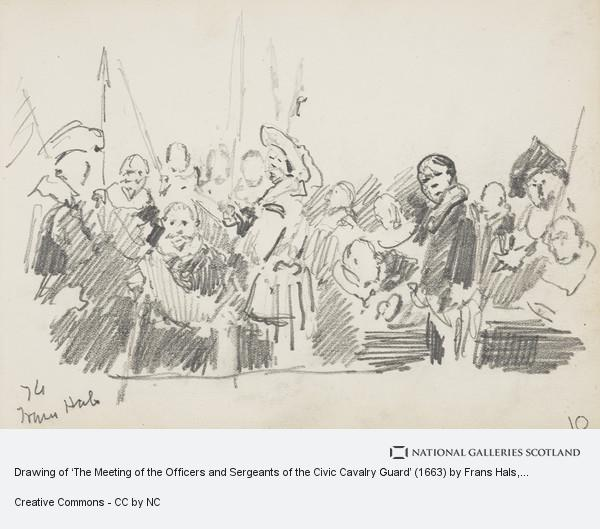 John Smart, Drawing of 'The Meeting of the Officers and Sergeants of the Civic Cavalry Guard' (1663) by Frans Hals