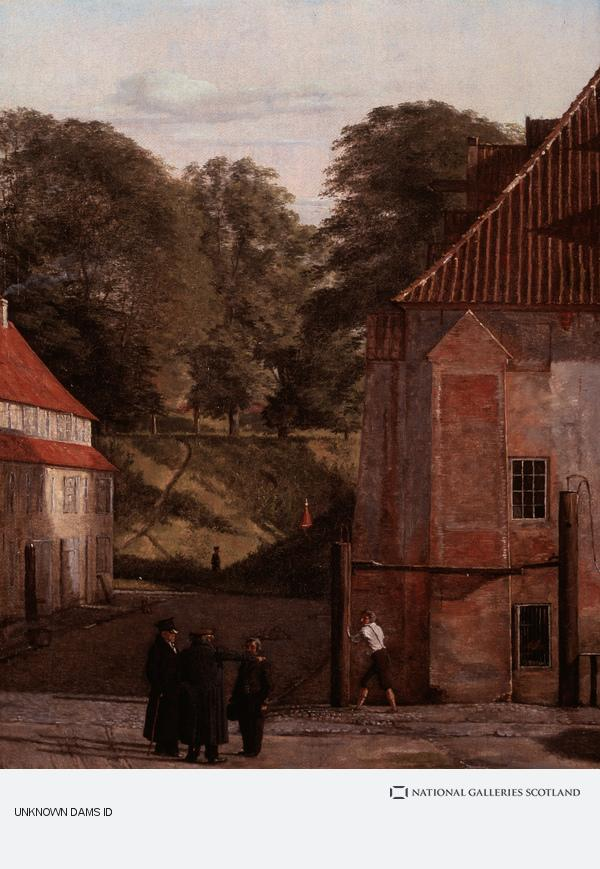 Christen Købke, A View of the Square in the Kastel Looking Towards the Ramparts (About 1830)