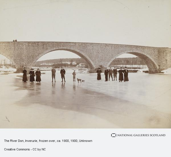 Unknown, The River Dee, Aberdeen, Frozen Over, ca. 1900